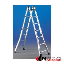 Scala scalissima alluminio 6+6 gradini Svelt | Elettromeccanica Calzolari