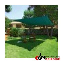 Vela giardino quadrata verde Sunnet Kit