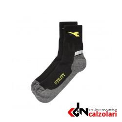 Calzino estivo nero e grigio DIADORA TG.XL