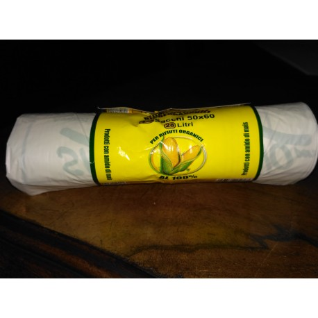 Sacchetto compostabile biodegr.50X60 rotolo da 10PZ.