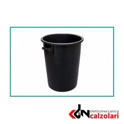 Bidone industriale MOBIL PLASTIC nero150lt