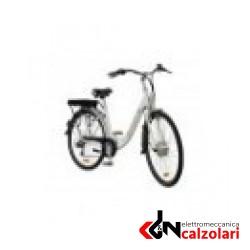 Bicicletta elettrica E-TOWN 26' donna c/batt 36V bianca