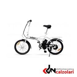 Bicicletta Elettrica pieghevole Nilox_Doc e-bike X1 bianca