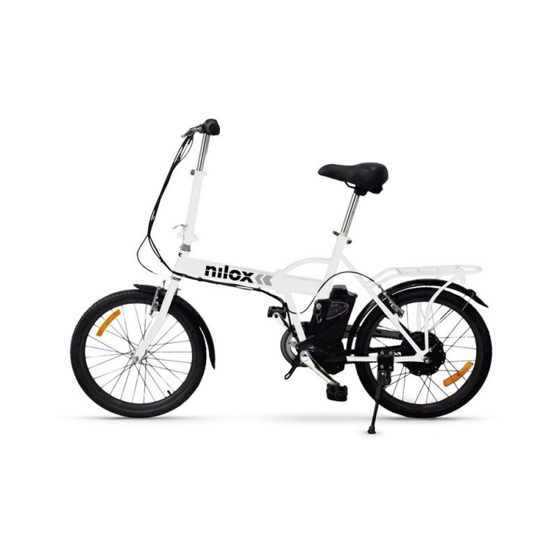 Bicicletta Elettrica Pieghevole Niloxdoc E Bike X1 Bianca