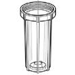 """Vaso 210SD GF 9""""3/4 slim"""