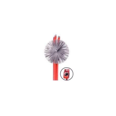 ECOKIT FLEX MT.8.40 ROSSO SPAZZACAMINO 5 ASTE L1400 + SCOVOLO TONDO 250