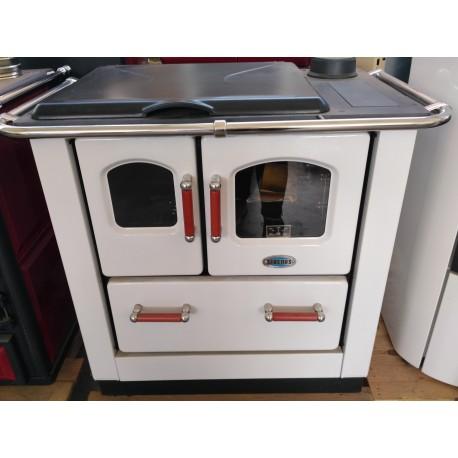 Cucina a legna bianca Sideros