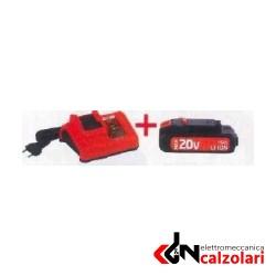 Kit caricabatteria + batteria 20V DUALPOWER MISTRAL