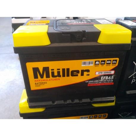 BATTERIA MULLER EFB65 (START-STOP)