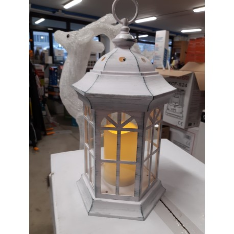 Lanterna bianco antico 37,5h esagonale