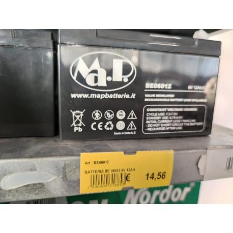 Batteria AGM GEL BE06012 6V 12AH