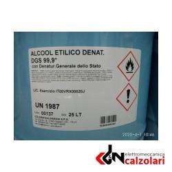 Tanica 25LT Alcool etilico denaturato. 99.9% Feroni
