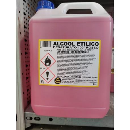 Alcool etilico denaturato. 99.9% Feroni 5LT