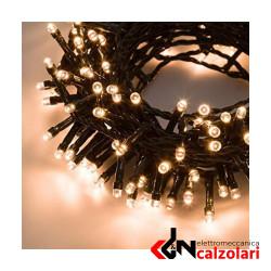 Luci LED Bianco Caldo + Controller +18.5m 450luci