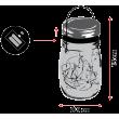 BARATTOLO VETRO D15 COL MIX 15 MICROL
